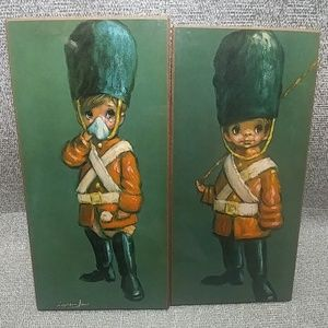 2 Vintage Leighton Jones Litho Wall Plaques